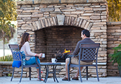 Blossman Gas Residential Services include Outdoor Gas Logs