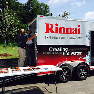 Rinnai Truck at Event in Asheville