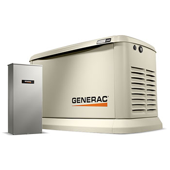 Generac Generator 22kW with 200 Amp Transfer Switch and WiFi