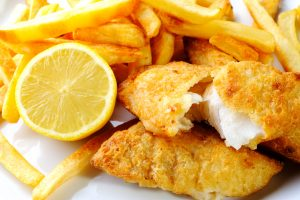 Fried Fish with French Fries Served at Open House on Friday August 17
