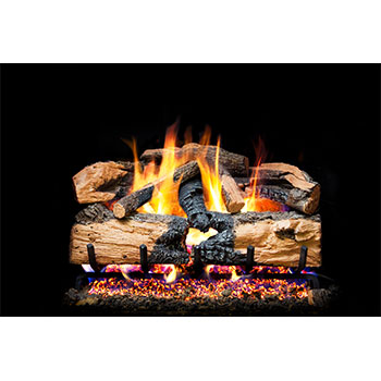 Peterson Charred Evergreen Split Oak Logs