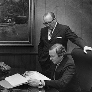 Blossman Gas Founder, Woodrow Blossman, along with son and second CEO, John Blossman