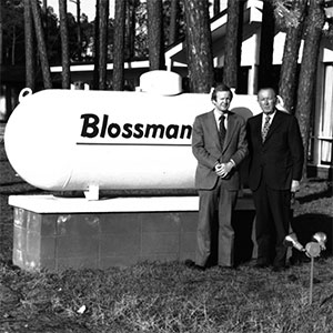 Blossman Gas Founder, Woodrow Blossman, along with son and second CEO John Blossman