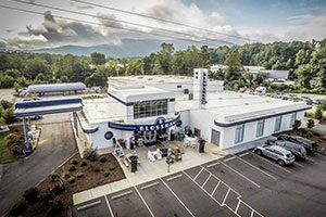 Areal View of Blossman Gas Store in Asheville