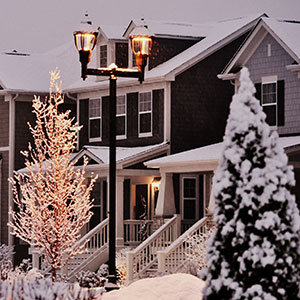 Picture of Homes and Trees Covered in Snow - Top 5 Tips for Propane Users During Severe Winter Weather