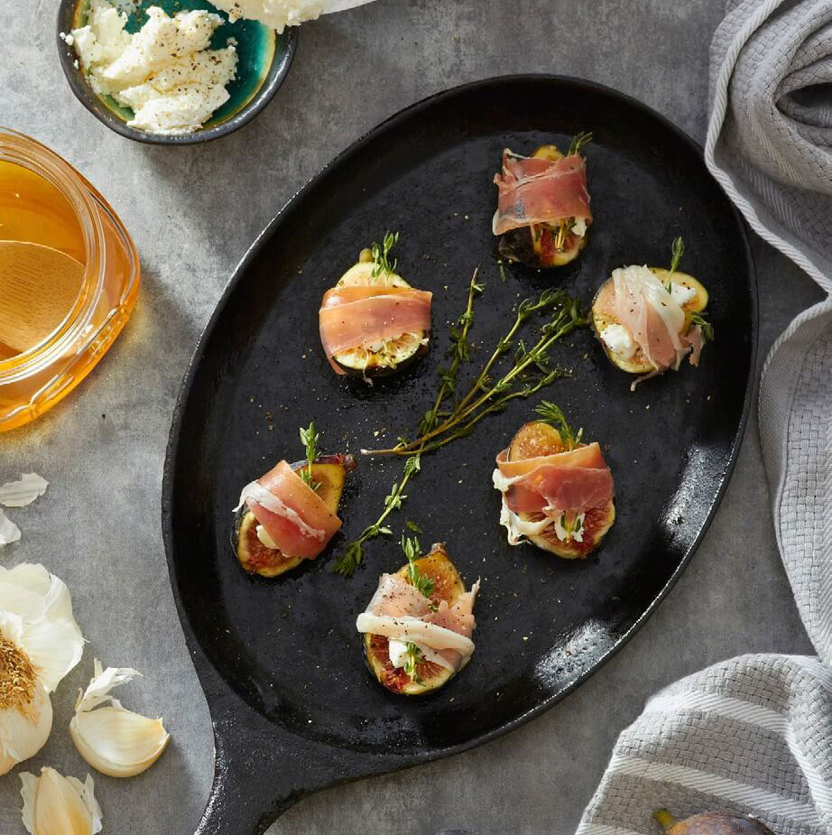 Grilled Prosciutto Wrapped Figs and Goat Cheese Recipe