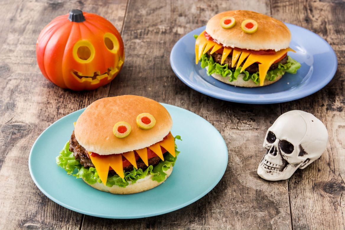 Halloween Monster Looking Burgers