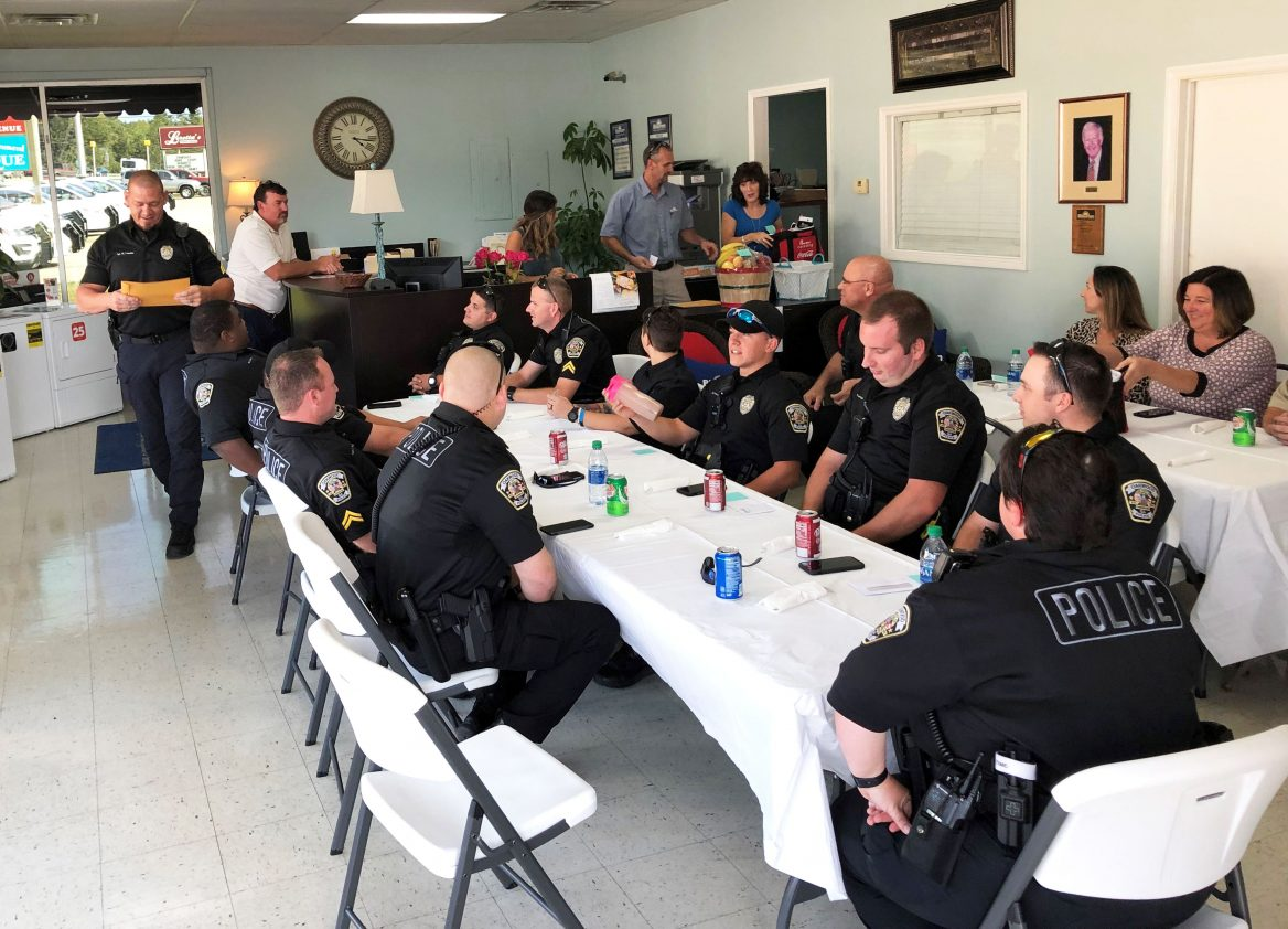 Gainesville Police Department Dinner at Blossman Gas