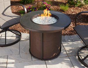 Outdoor GreatRoom Stonefire Fire Pit Featured on Patio