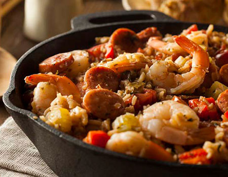 Jambalaya In Cast Iron Skillet