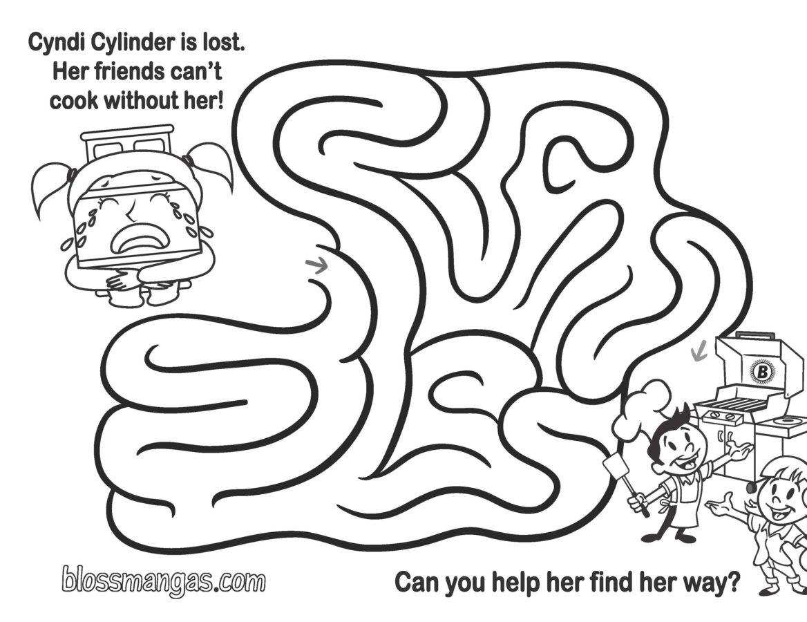 Cyndi Cylinder is Lost - Help Find Her Way By Completing This Maze