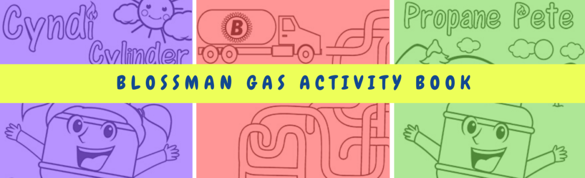 Blossman Gas Activity Book for Kids Header Image