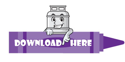 Crayon that says Download HERE as a clickable button that has Propane Pete (a blossman gas cylinder character) at the top