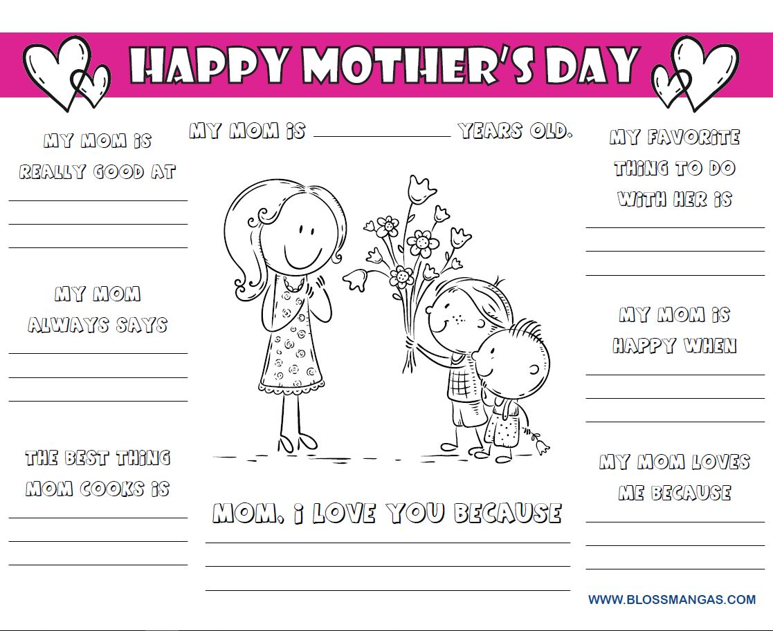 Screenshot of the Mothers Day Activity Book