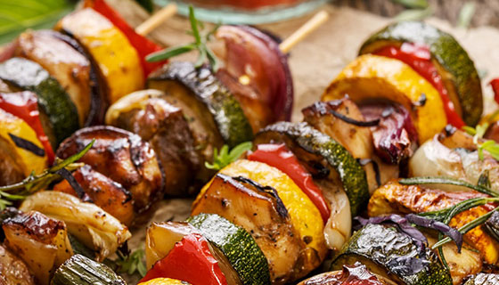 Grilled Jerk Chicken Kebabs Recipe