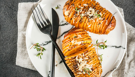 Grilled Hasselback Potatoes Recipe