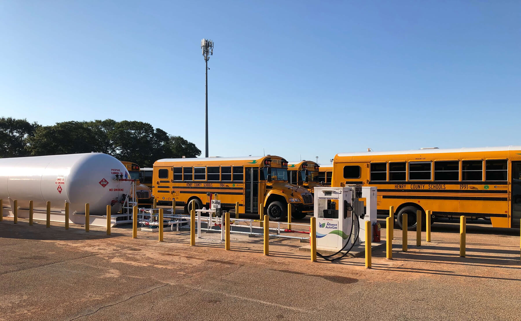 Propane Autogas refueling infrastructure for school buses owned by Henry County Schools in Atlanta