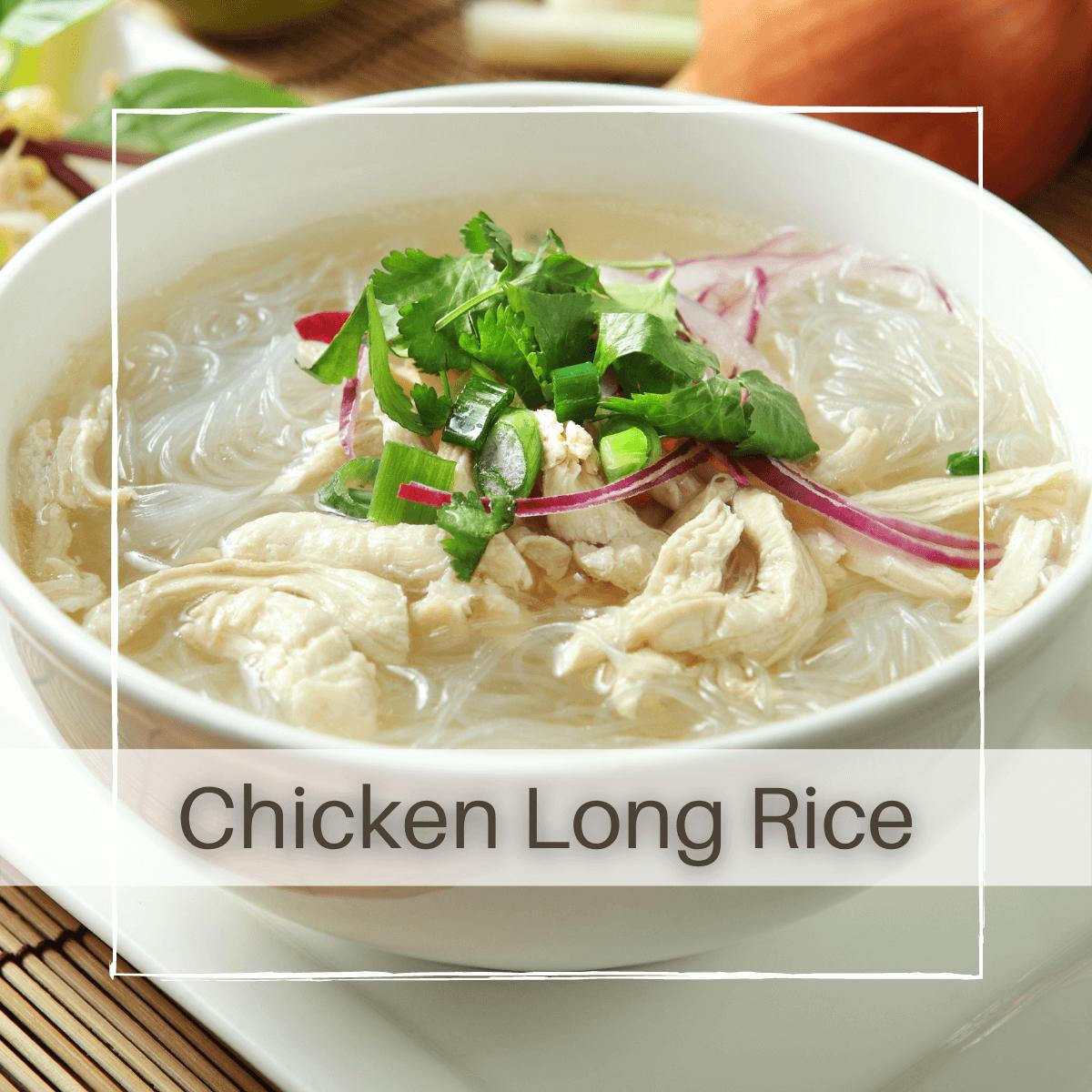 Chicken Long Rice Soup (Hawaiian Style)