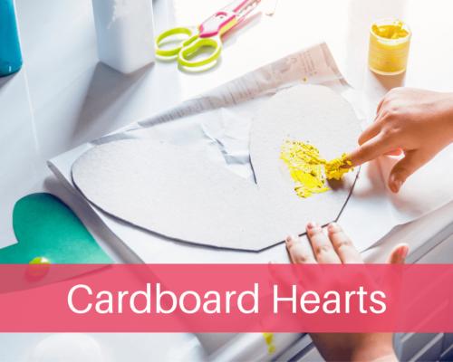 Childrens Cardboard Hearts Activity