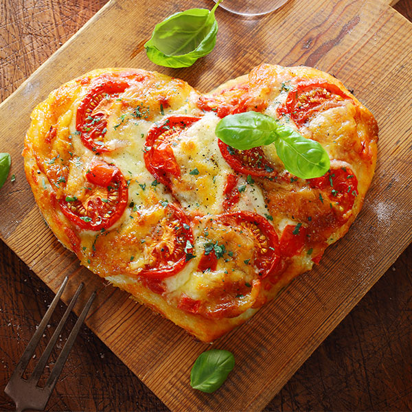 Grilled Pizza Heart