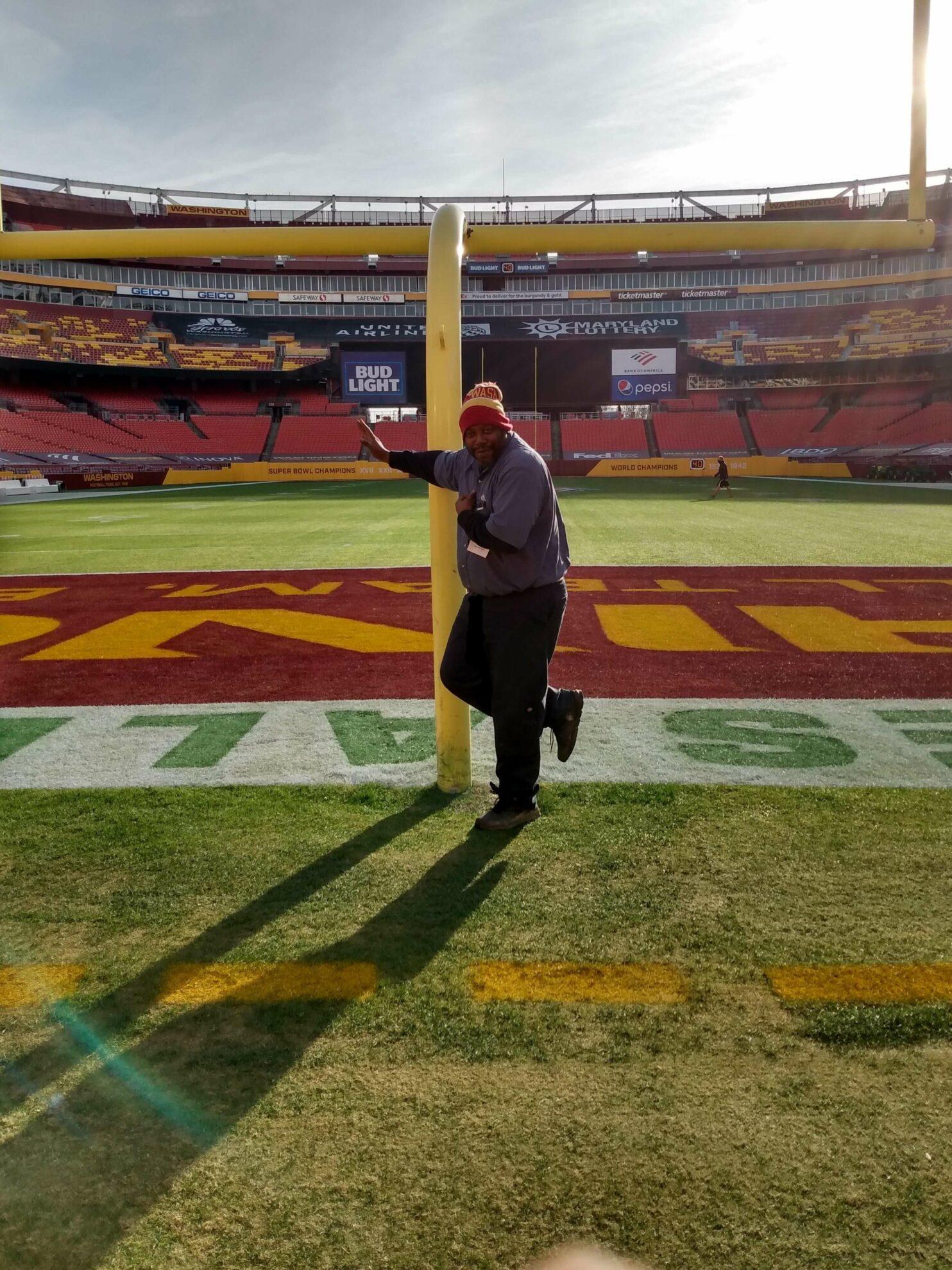 Dedrick Blair, Gas Salesman for Blossman, delivering propane at D.C. Stadiums.